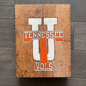TENNESSEE VOLS distressed Man Cave Solid Wood Art